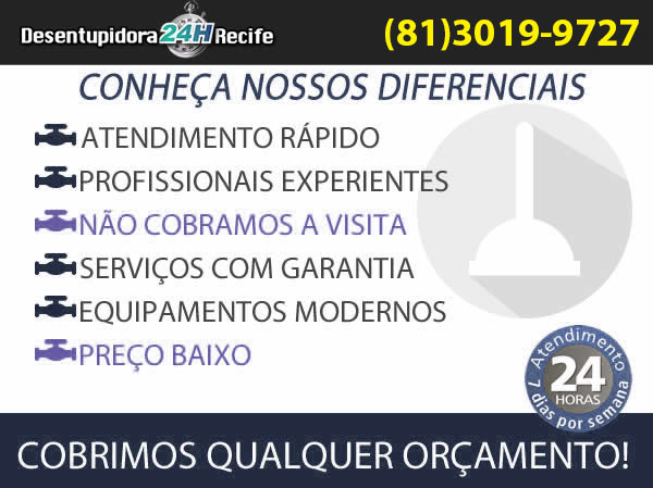 Conheça os Diferenciais da Desentupidora Recife